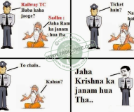 Without ticket passenger in Train