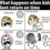 The kids are always busy with their daily routines