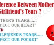 Difference Between Mother`s & GF`s Tears?