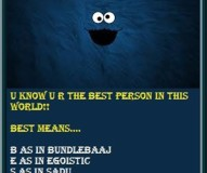 U Know U R The Best Person In This World