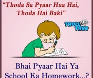 Love Or Homework Funny Jokes & Pictures