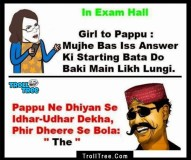 Girl & Boy Funny Troll In Examination Hall