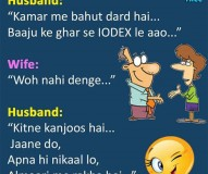 Husband & Wife Hindi Funny Jokes at TrollTree.Com