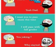 Son Trolls Dad