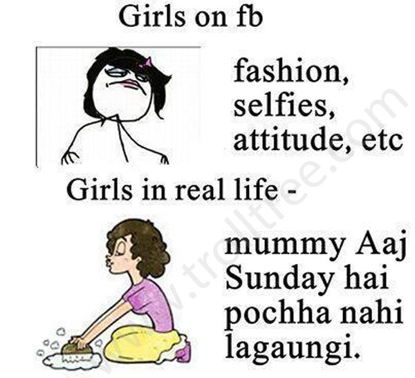 Girls on Fb – Girls in Real Life