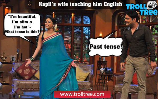 Kapil`s Wife Teaching Him English