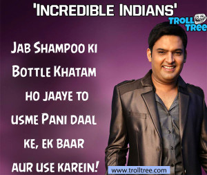 Kapil S Jokes On Shampoo Bottle