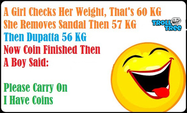 A Girl Checks Her Weight