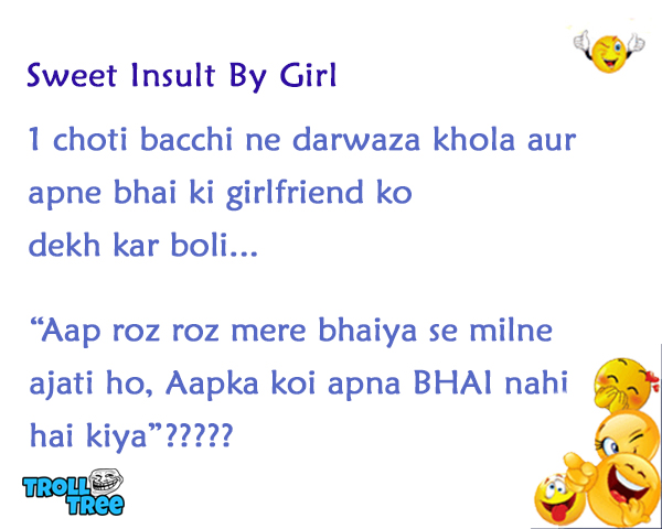 Sweet Insult By Girl
