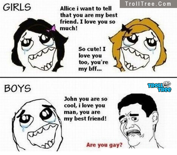 Girls boys the differene Funny Jokes at TrollTree.Com