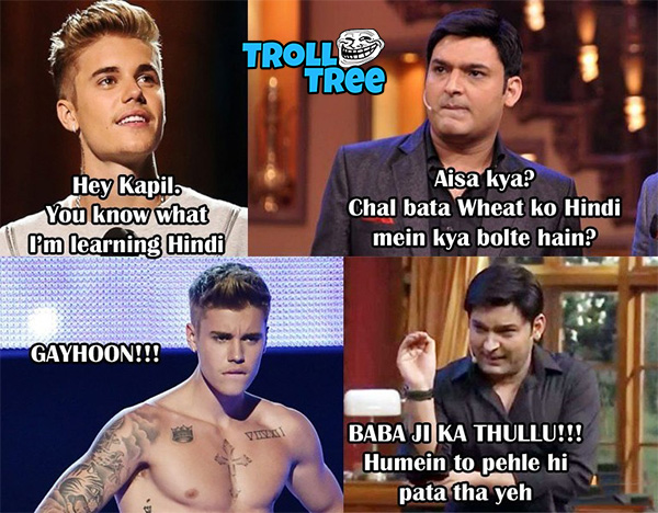 Kapil Sharma Trolls On Justin Bieber at Comdey Night