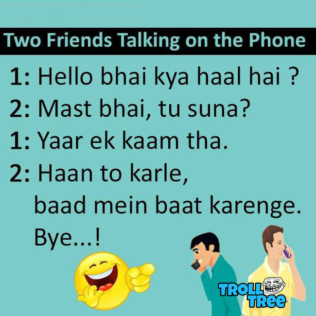 Two Friends Talking on the Phone