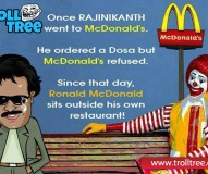 Once Rajinikanth went to McDonald`s