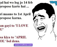 1st April- Best day to propose the girl