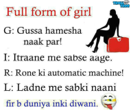 Full Form of Girl