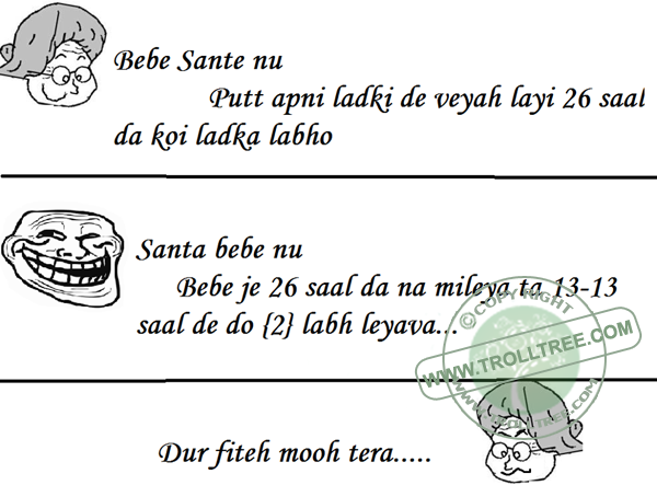 The Santa Banta` s joke