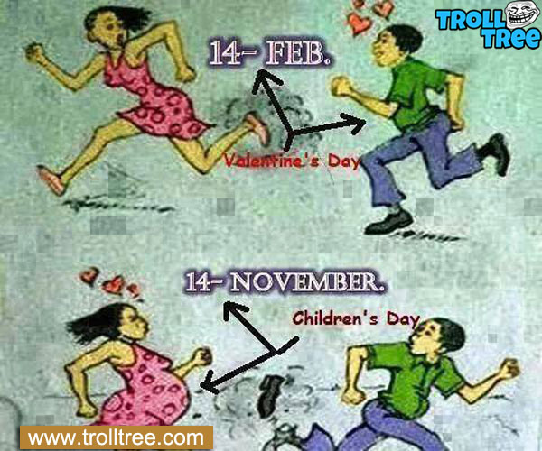 Hahaha 9 Months between Valentine and Children's Day