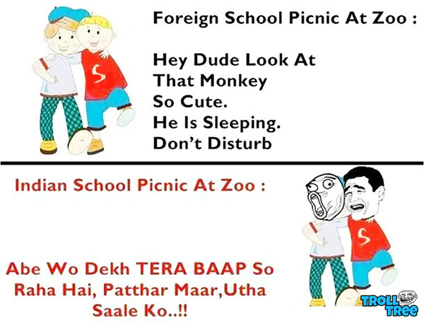 Foreign and Indian School Picnic At Zoo