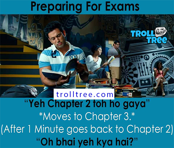Preparing For Exam Funny Jokes & Pictures